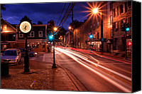 Old Mill Scenes Canvas Prints - Main Street Traffic Canvas Print by Kenneth Losurdo
