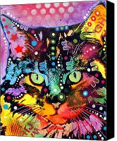 Animal Art Mixed Media Canvas Prints - Maine Coon Canvas Print by Dean Russo
