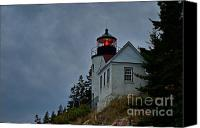 Acadia Canvas Prints - Maine Lighthouse Canvas Print by John Greim