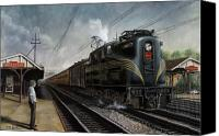 Electric Canvas Prints - Mainline Memories Canvas Print by David Mittner