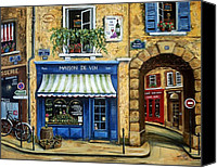 Scenes Painting Canvas Prints - Maison De Vin Canvas Print by Marilyn Dunlap