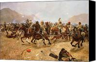 Afghanistan Canvas Prints - Maiwand Canvas Print by Richard Caton II Woodville