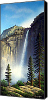 Great Painting Canvas Prints - Majestic Falls Canvas Print by Frank Wilson