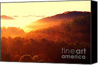 Wv Canvas Prints - Majestic Mountain Sunrise Canvas Print by Thomas R Fletcher