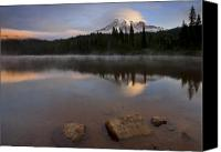 Mt. Rainier Canvas Prints - Majestic  Rainier Dawn Canvas Print by Mike  Dawson