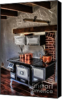 Antique Canvas Prints - Majestic Stove Canvas Print by Susan Candelario