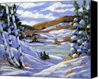Prankearts Canvas Prints - Majestic Winter  Canvas Print by Richard T Pranke