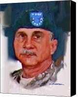 Major Painting Canvas Prints - Major General William H. Wade II Canvas Print by Dean Gleisberg