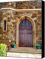 Baldwin Canvas Prints - Makawao Union Church Doors Canvas Print by Karon Melillo DeVega