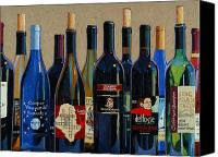 Wine Art Canvas Prints - Make Mine Virginia Wine Number Two Canvas Print by Christopher Mize