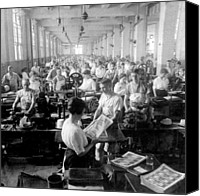 Factory Photo Canvas Prints - Making Money at the Bureau of Printing and Engraving - Washington DC - c 1916 Canvas Print by International  Images