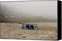 Sennen Cove Canvas Prints - Making the most of their holiday Canvas Print by Terri  Waters