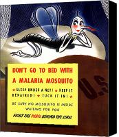 Propaganda Canvas Prints - Malaria Mosquito Canvas Print by War Is Hell Store
