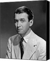 1949 Movies Canvas Prints - Malaya, James Stewart, 1949 Canvas Print by Everett
