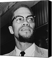 African Americans Photo Canvas Prints - Malcolm X 1925-1965 In 1964, The Year Canvas Print by Everett