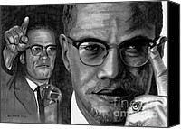 Malcolm X Canvas Prints - Malcolm X Canvas Print by Gil Fong