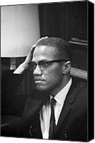 Malcolm X Canvas Prints - Malcolm X, Malcolm X Waits At Martin Canvas Print by Everett