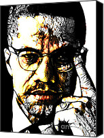 Malcolm X Canvas Prints - Malcolm X Canvas Print by The DigArtisT
