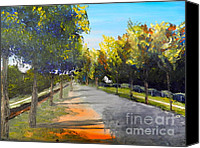 Oil Special Promotions - Maldon Victoria Australia Canvas Print by Pamela  Meredith