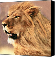 Bigcat Canvas Prints - Male African Lion Canvas Print by Walter Colvin