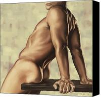 Body Canvas Prints - Male nude 2 Canvas Print by Simon Sturge