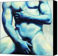 Torso Canvas Prints - Male nude 3 Canvas Print by Simon Sturge