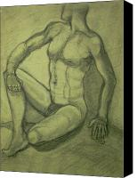 Will Jones Canvas Prints - Male nude Canvas Print by Cj