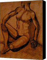 Will Jones Canvas Prints - Male nude rust Canvas Print by Cj