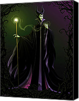 Black Digital Art Canvas Prints - Maleficent Canvas Print by Christopher Ables