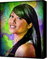 Filipino Canvas Prints - Mallory Canvas Print by Chuck Staley