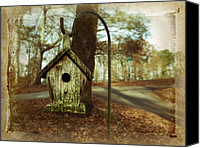 Fall Leaves Canvas Prints - Mamaws Birdhouse Canvas Print by Steven  Michael