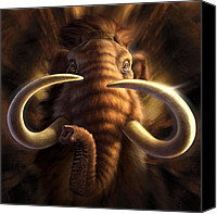 Prehistoric Canvas Prints - Mammoth Canvas Print by Jerry LoFaro