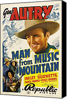Guitar Hero Canvas Prints - Man From Music Mountain, Gene Autry Canvas Print by Everett
