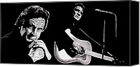 Johnny Cash Canvas Prints - Man in Black Canvas Print by Al  Molina