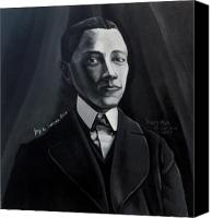 Black Sculpture Canvas Prints - Man in Suit and Vest Out of the Box series Canvas Print by Joyce Owens