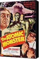Horror Fantasy Movies Canvas Prints - Man Made Monster, Aka The Atomic Canvas Print by Everett