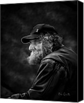 Veteran Canvas Prints - Man With A Beard Canvas Print by Bob Orsillo