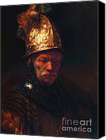 Reproduction Canvas Prints - Man With The Golden Helmet Canvas Print by Pg Reproductions