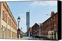 Stadium Design Canvas Prints - Manchester - Beetham Tower Canvas Print by Hristo Hristov