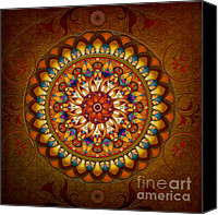 Spirituality Mixed Media Canvas Prints - Mandala Ararat Canvas Print by Bedros Awak