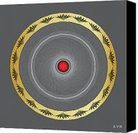 Tibetan Digital Art Canvas Prints - Mandala No. 2 Canvas Print by Alan Bennington