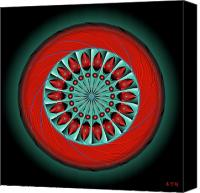 Tibetan Digital Art Canvas Prints - Mandala No. 20 Canvas Print by Alan Bennington