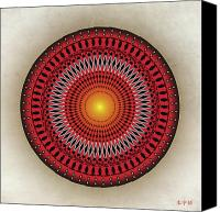 Tibetan Digital Art Canvas Prints - Mandala No. 32 Canvas Print by Alan Bennington
