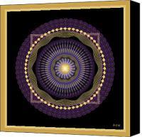 Tibetan Digital Art Canvas Prints - Mandala No. 39 Canvas Print by Alan Bennington
