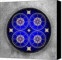 Tibetan Digital Art Canvas Prints - Mandala No. 59 Canvas Print by Alan Bennington