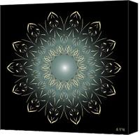 Tibetan Digital Art Canvas Prints - Mandala No. 64 Canvas Print by Alan Bennington