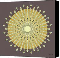 Tibetan Digital Art Canvas Prints - Mandala No. 9 Canvas Print by Alan Bennington
