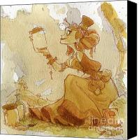 Women Canvas Prints - Mandarin Canvas Print by Brian Kesinger