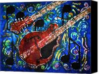 Instrument Tapestries - Textiles Canvas Prints - Mandolin  Canvas Print by Sue Duda