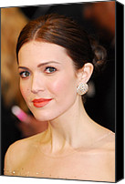 Academy Awards Oscars Canvas Prints - Mandy Moore Wearing Chopard Earrings Canvas Print by Everett